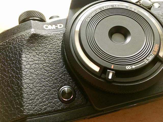 OM-D E-M5 Mark Ⅱのプレビューボタンの画像