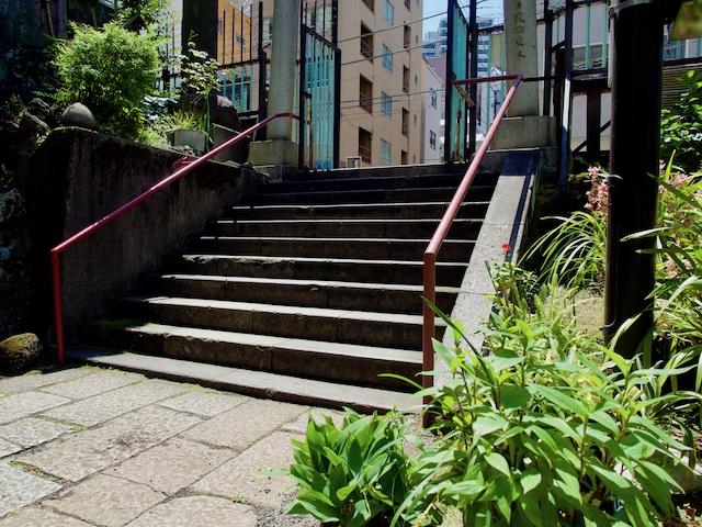 柳森神社・入り口階段の画像