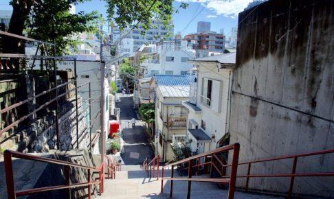 須賀神社・男坂階段からの眺めの画像