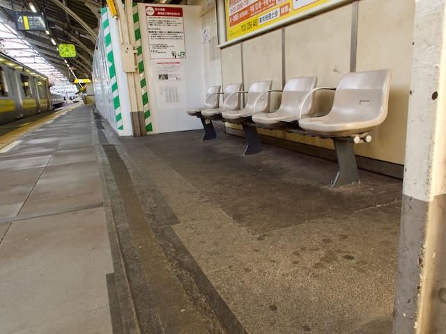 JR代々木駅・千葉行きホームの画像