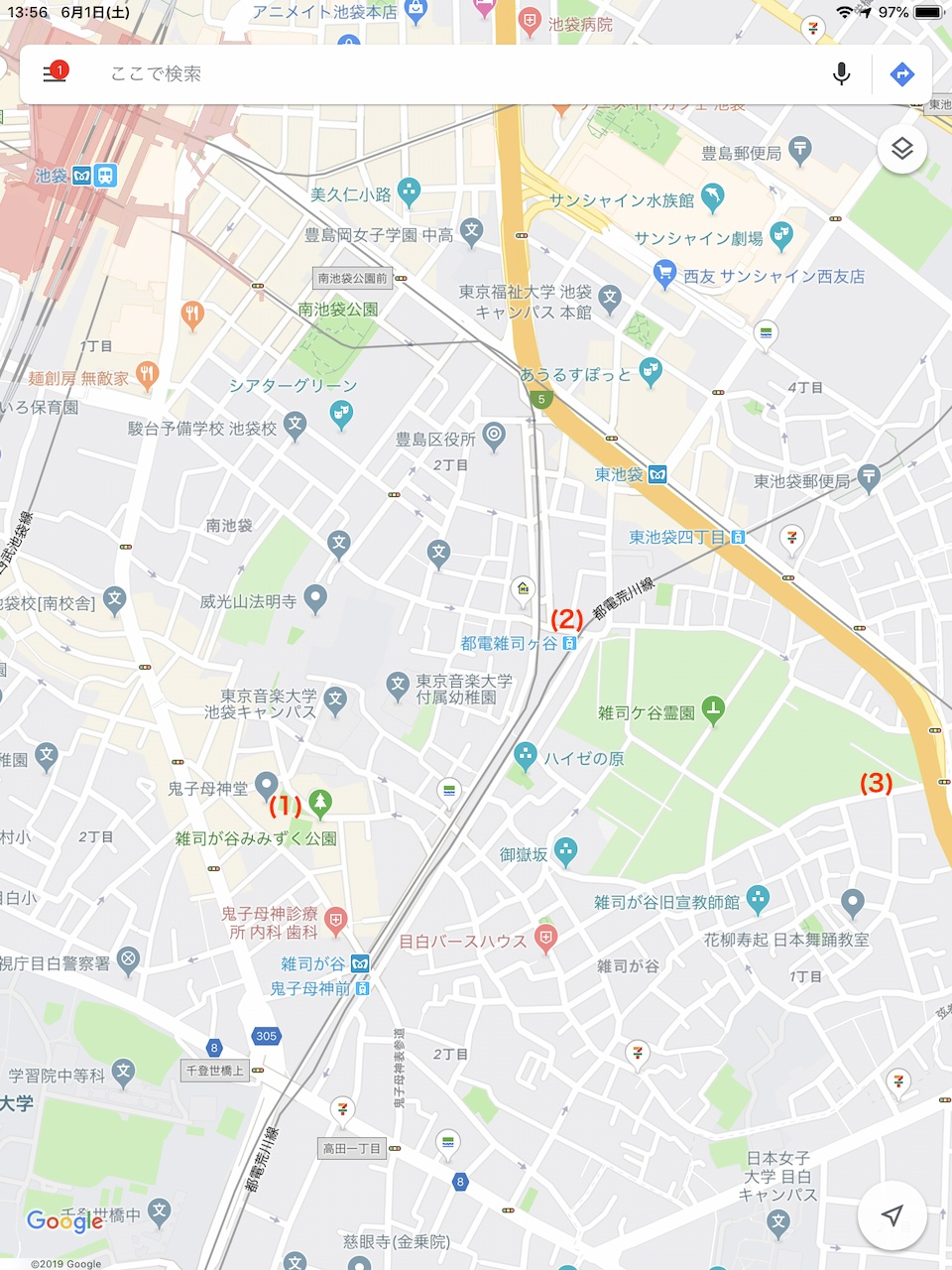 シュタインズゲート聖地巡礼マップ(雑司が谷)の画像