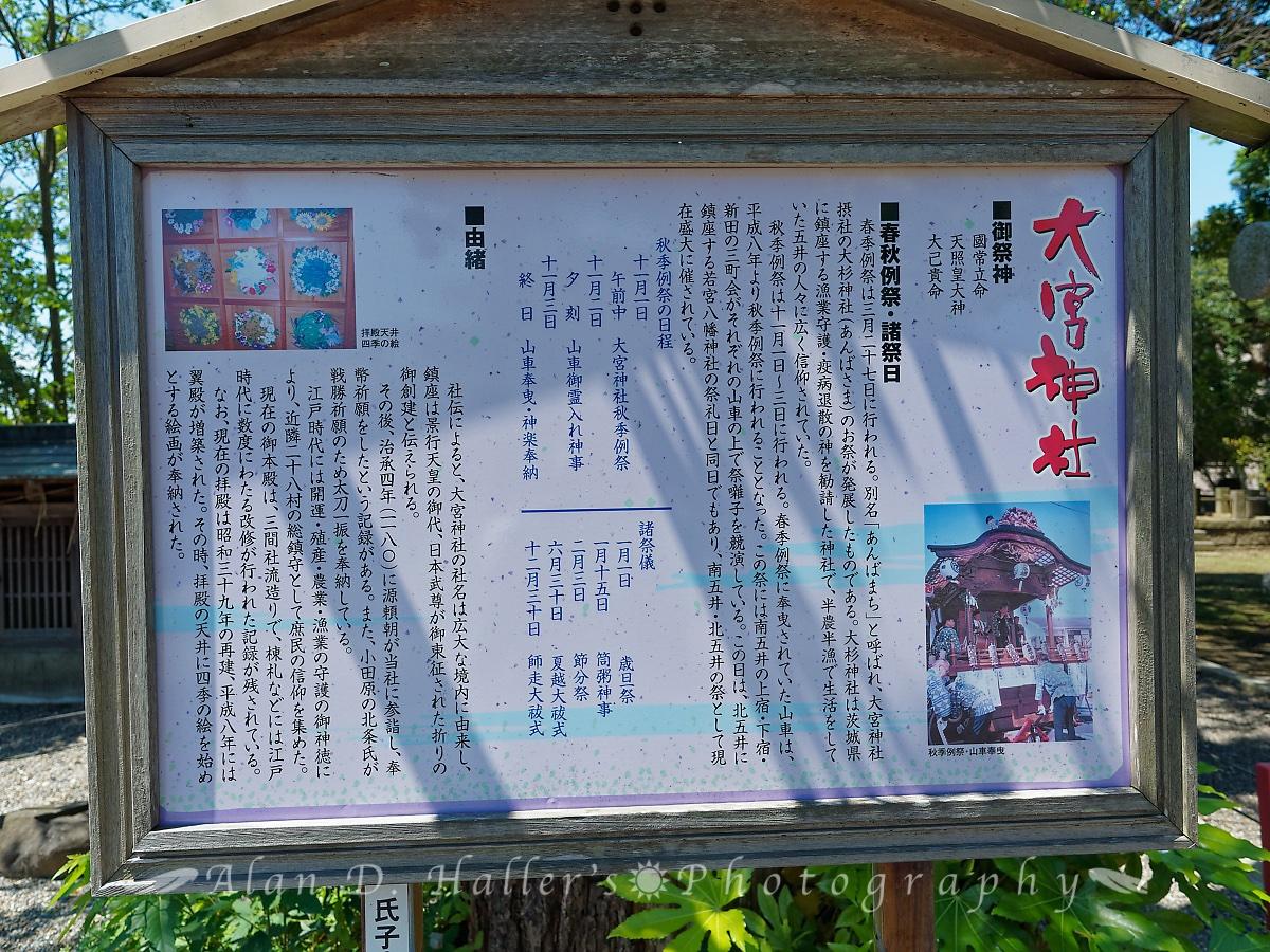 大宮神社の由緒看板の画像
