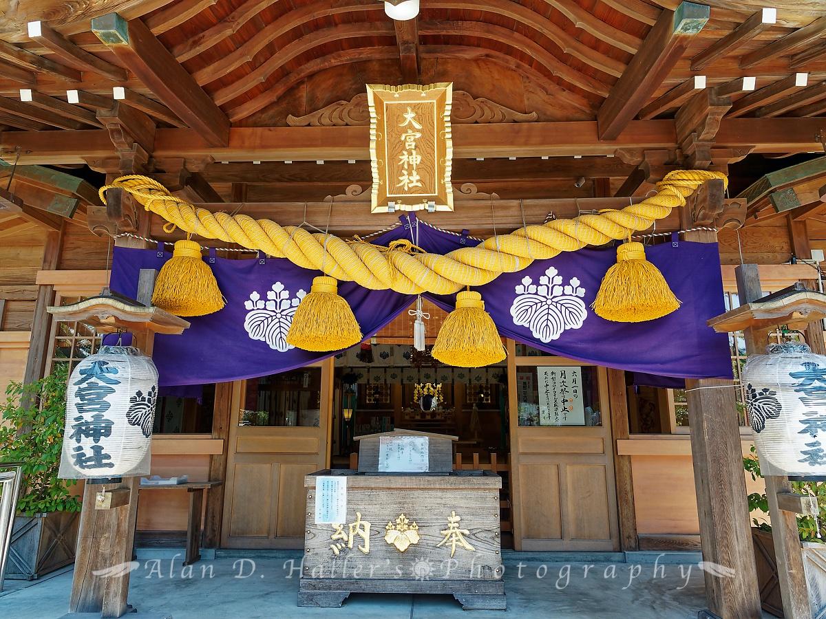 大宮神社の本殿正面の画像