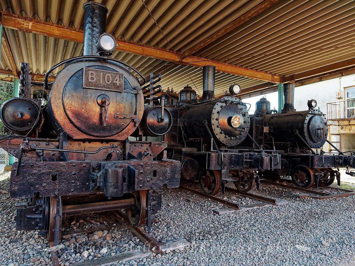 千葉県指定文化財の蒸気機関車3輌の画像