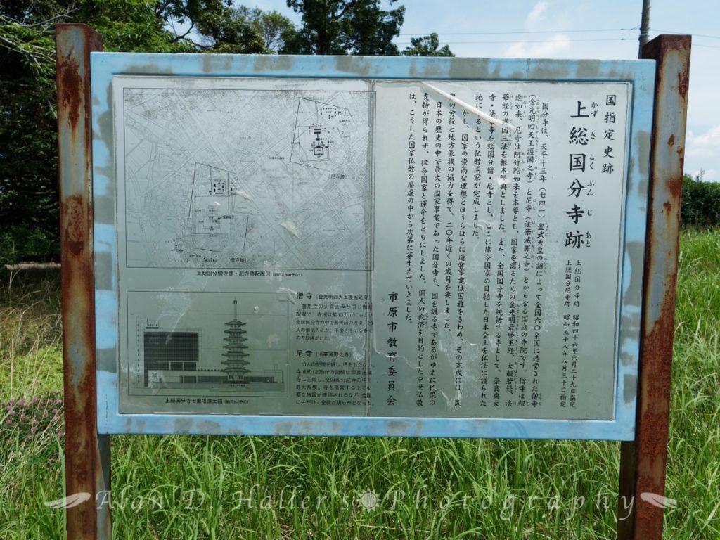 上総国分寺跡の解説看板