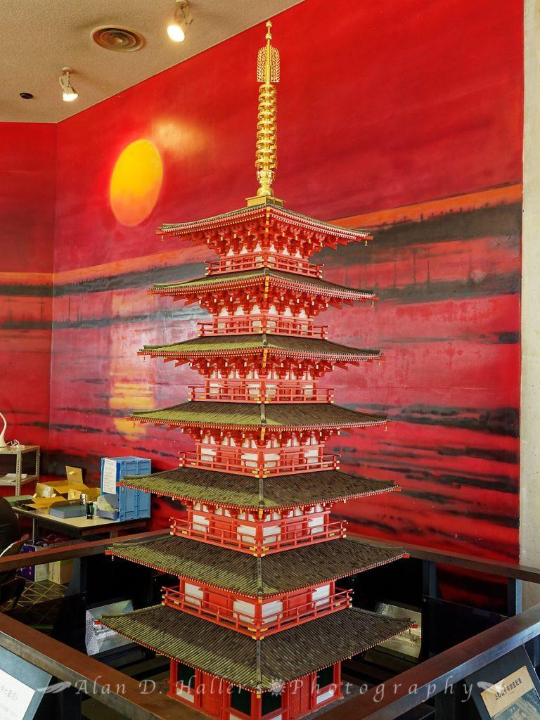 上総国分寺・七重塔の模型