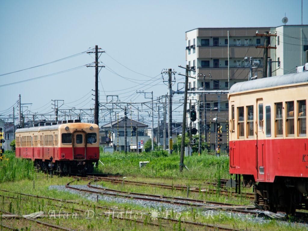 出発していく小湊鐵道